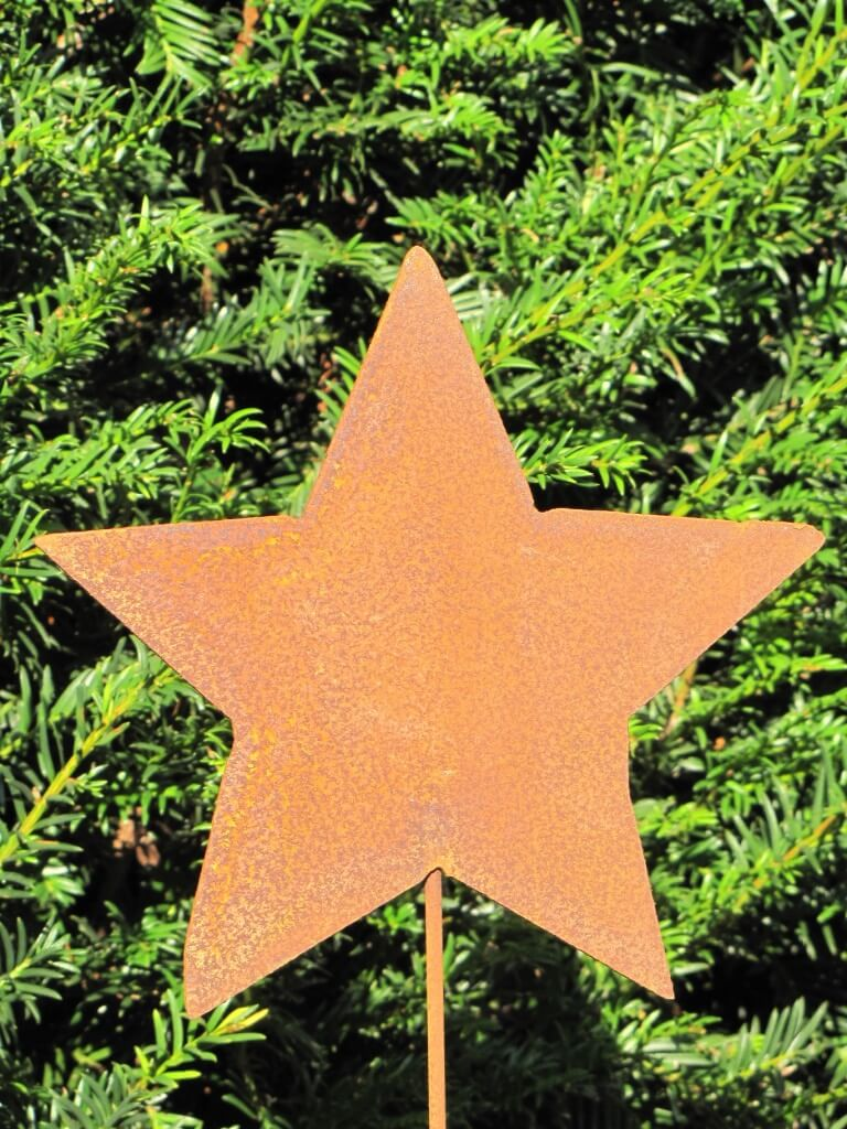 Edelrost gartenstecker stern geschlossen gro metall for Gartenstecker metall rostoptik edelstahl