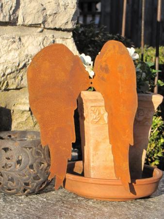 Edelrost Engel Lotta Gartendeko Rost Deko Engel Figur Engelfiguren Engelsflügel