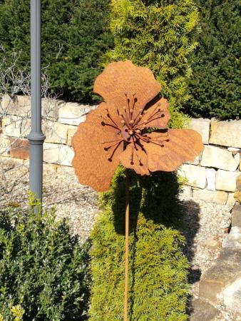 Saremo Edelrost Dekoelement Gartenstecker Hirschgeweih groß Rost Gartendeko