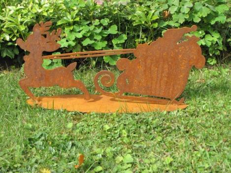 gartendekoration edelrost, winterliche gartendeko aus edelrost - angels garden dekoshop, Design ideen