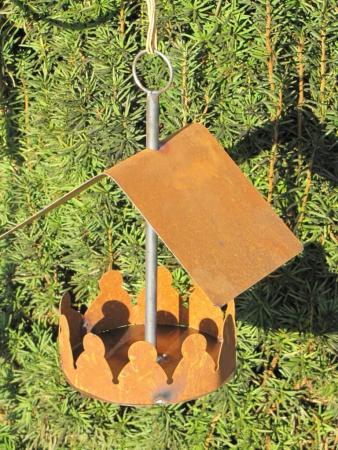 edelrost vogelhaus zum h ngen gross angels garden dekoshop. Black Bedroom Furniture Sets. Home Design Ideas