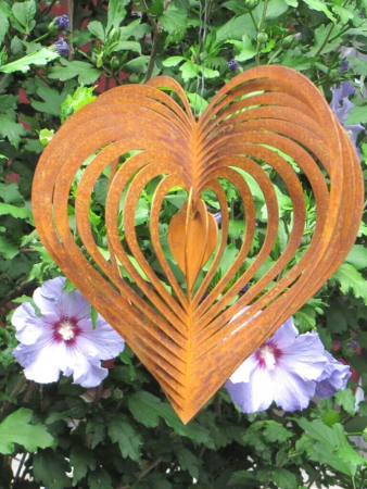 Gedichttafel perfekter moment aus edelrost angels garden for Rostelemente garten