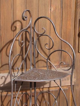 eckregal aus metall f r haus und garten klappbar angels garden dekoshop. Black Bedroom Furniture Sets. Home Design Ideas