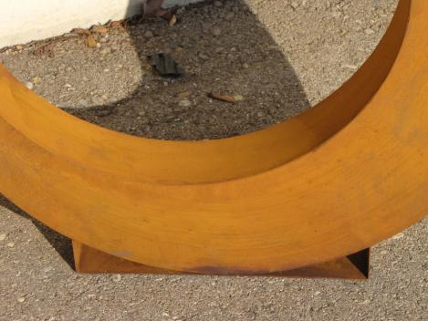 Edelrost dekoobjekt kreis 60 cm angels garden dekoshop for Rostelemente garten