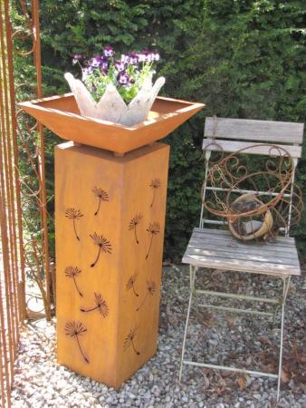edelrost dekos ule pusteblume inkl schale 80 cm angels. Black Bedroom Furniture Sets. Home Design Ideas