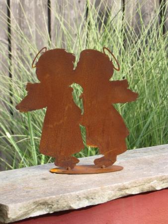 Edelrost gartenstecker zierlauch angels garden dekoshop for Rostelemente garten