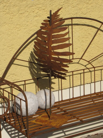 edelrost gartenstecker farnfackel mit glaswindlicht angels garden dekoshop. Black Bedroom Furniture Sets. Home Design Ideas