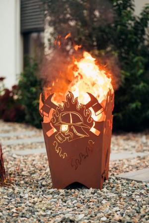 Feuerkorb Flammenherz Herz in Flammen Feuerschale