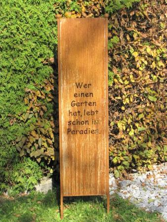 Edelrost sichtschutz paravent mandala angels garden dekoshop for Rostelemente garten