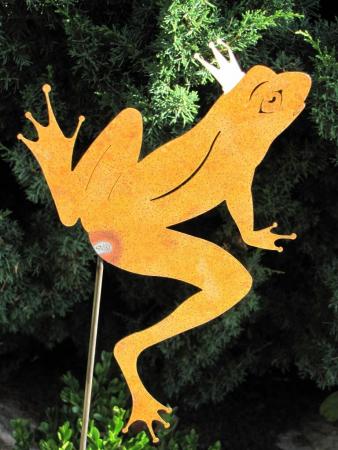 Edelrost gartenstecker frosch angels garden dekoshop for Edelrost gartenstecker
