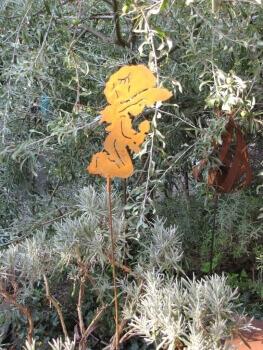 Edelrost fensterbild engel im mond angels garden dekoshop for Rostelemente garten