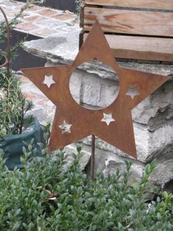 Winterliche gartendeko aus edelrost angels garden dekoshop for Edelrost gartenstecker