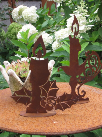 Edelrost kerze magdalena angels garden dekoshop for Gartendeko kerzen