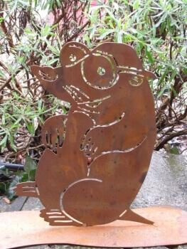 Edelrost schildkr te martha angels garden dekoshop for Rostelemente garten