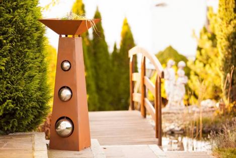 rosts ule trapezs ule mit schale angels garden dekoshop. Black Bedroom Furniture Sets. Home Design Ideas