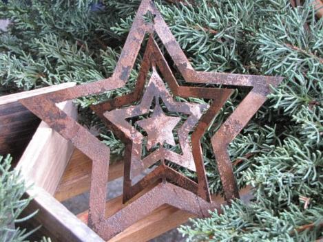 Edelrost Weihnachten Dekoration Stern Gartendeko Gartenlicht rost Design Garten