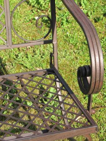 gartenbank scranno aus metall zweisitzer angels garden dekoshop. Black Bedroom Furniture Sets. Home Design Ideas