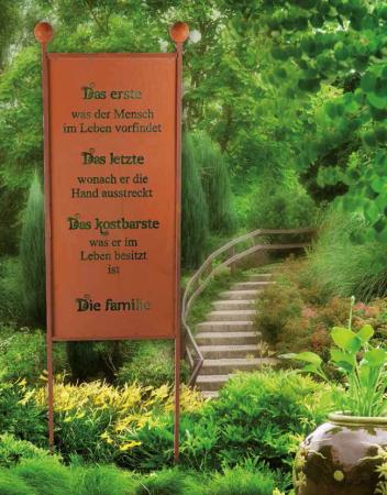Gartenschild familie aus edelrost angels garden dekoshop for Edelrost skulpturen