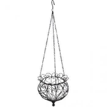 h ngekorb castello aus metall angels garden dekoshop. Black Bedroom Furniture Sets. Home Design Ideas