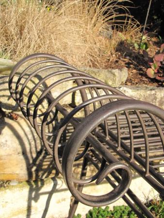 Edelrost gartenbank alvaro angels garden dekoshop for Rostelemente garten