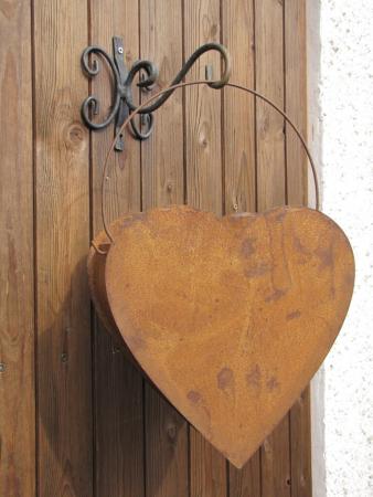 edelrost pflanzschale herz zum h ngen angels garden dekoshop. Black Bedroom Furniture Sets. Home Design Ideas