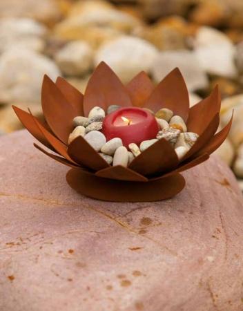 Seerose mitte aus edelrost zur dekoration angels garden for Tiere aus edelrost