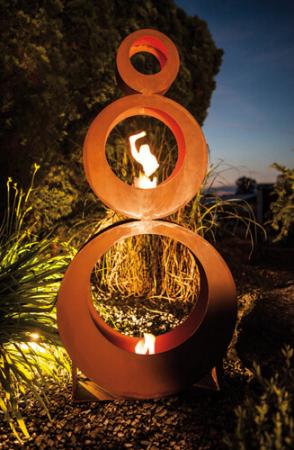 Edelrost skulptur 3 wheels angels garden dekoshop for Edelrost skulpturen