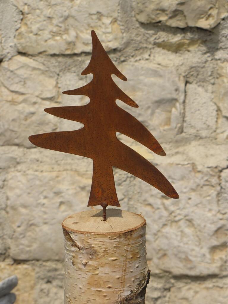 edelrost b umchen zum schrauben 2 gr en metall rostbaum. Black Bedroom Furniture Sets. Home Design Ideas