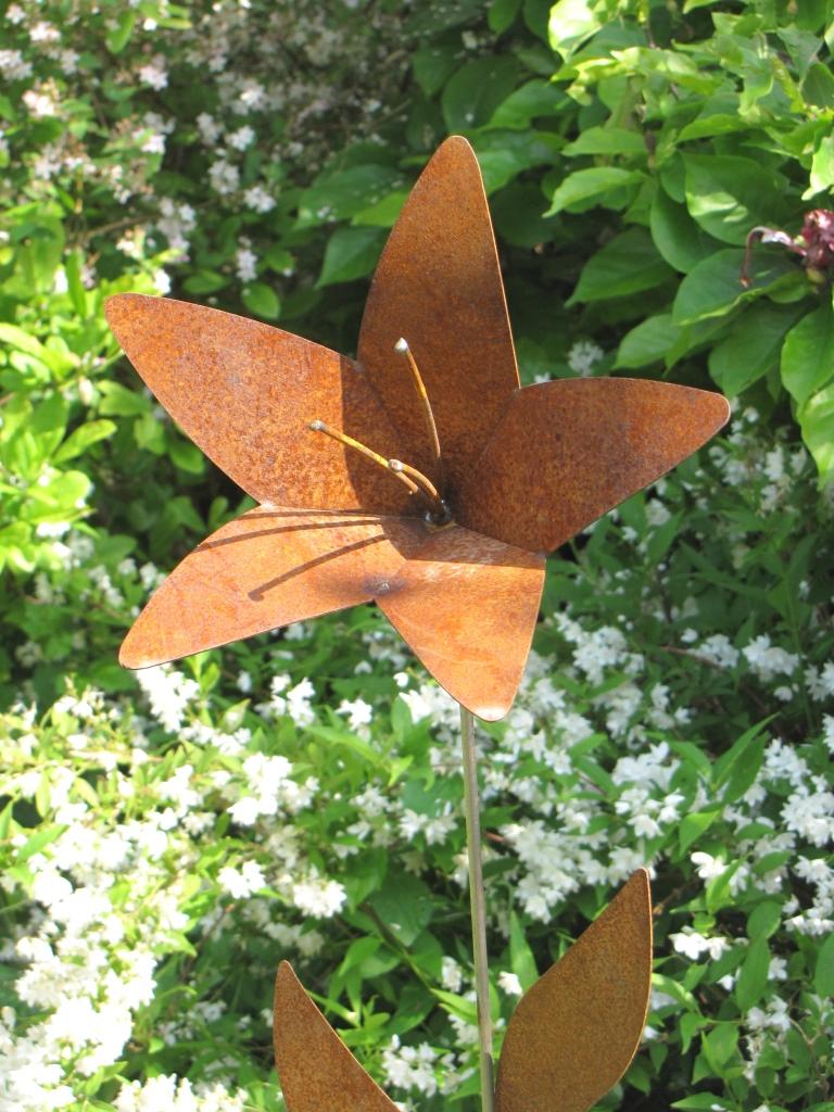 Edelrost Blume Lilie - Angels Garden Dekoshop