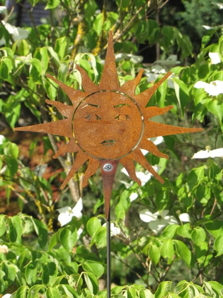 Edelrost gartenstecker sonne angels garden dekoshop for Edelrost gartenstecker