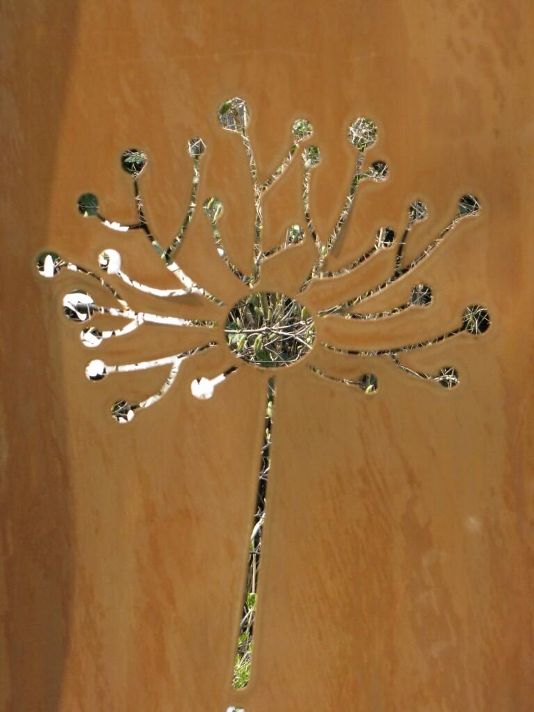 Edelrost Sichtschutz Paravent Pusteblume Angels Garden Dekoshop