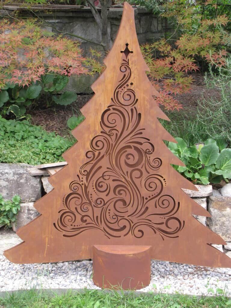 edelrost tannenbaum leander mit led beleuchtung angels garden dekoshop. Black Bedroom Furniture Sets. Home Design Ideas