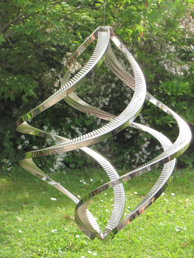 windspiele aus metall edelstahl, edelstahl windspiel windspinner quattro, 38 cm - angels garden dekoshop, Design ideen