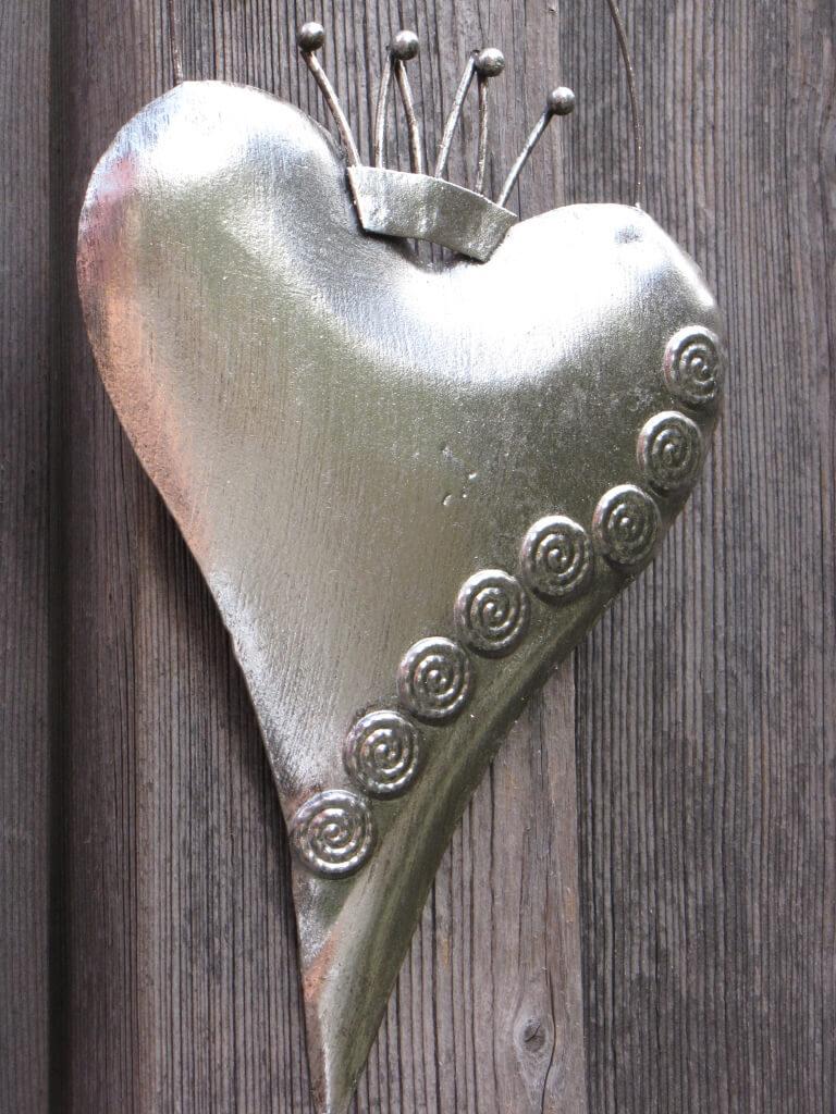Deko Herzen Zum Aufhängen.Shabby Chic Herz Zum Hängen Silber Angels Garden Dekoshop