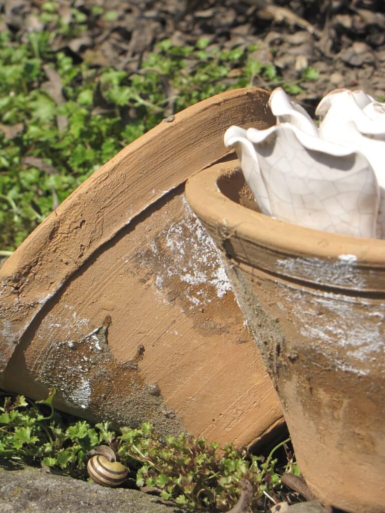 Harztopf aus ton mit baumharz angels garden dekoshop for Gartendeko zum bepflanzen