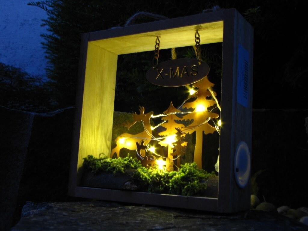 Wandbild Xmas Mit Led Beleuchtung Angels Garden Dekoshop