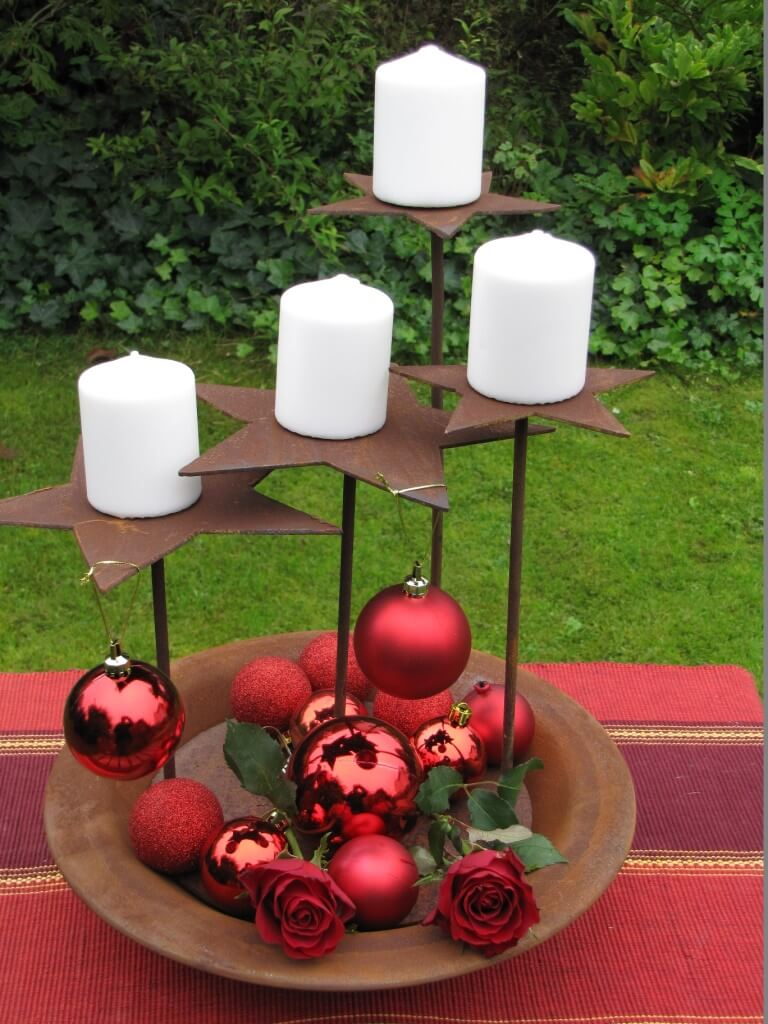 Adventskranz sterne aus edelrost angels garden dekoshop for Gartendeko advent