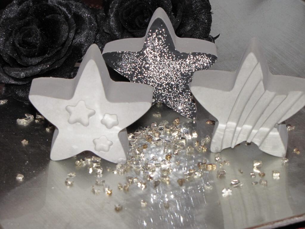 betonstern grau mit ornament herz angels garden dekoshop. Black Bedroom Furniture Sets. Home Design Ideas