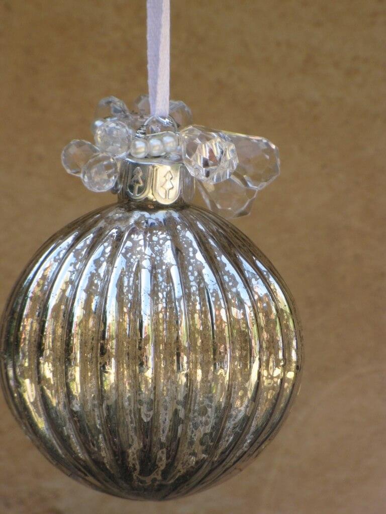 Christbaumkugeln Champagnerfarben.Weihnachtskugel Piccolo Glas