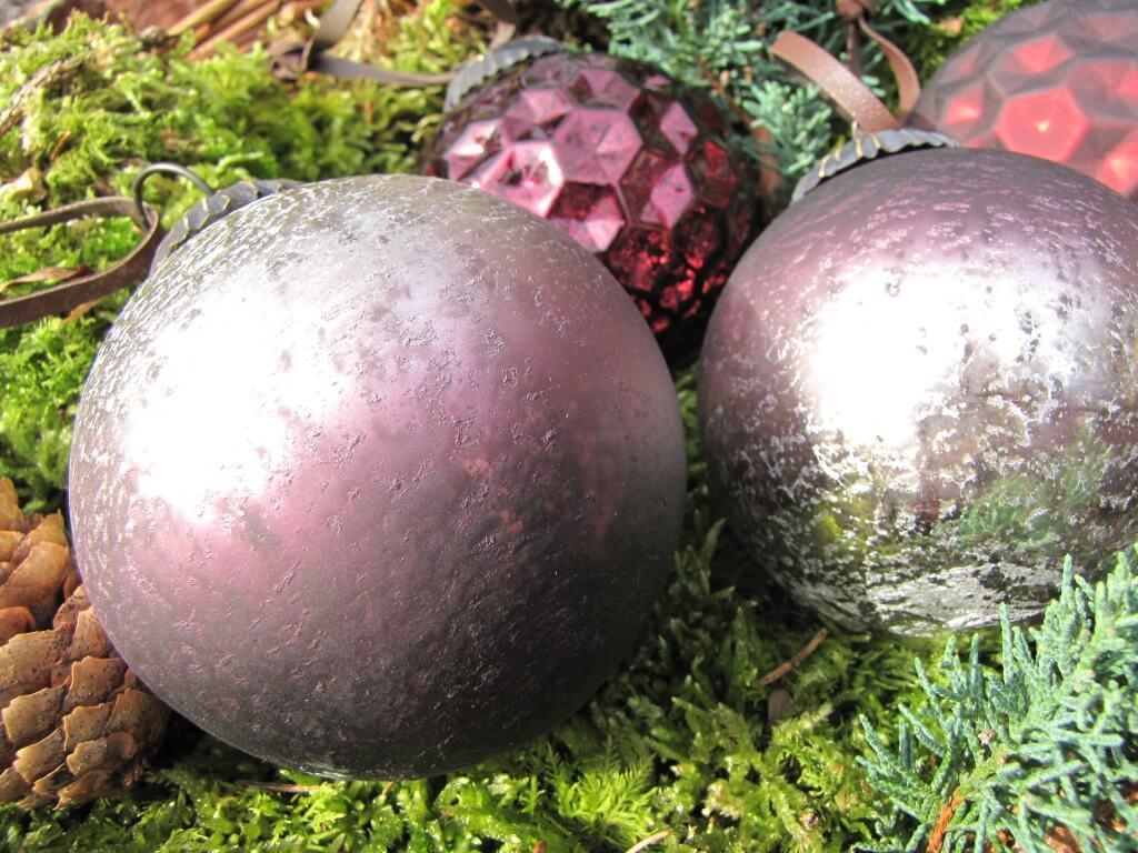 Christbaumkugeln Violett.6er Set Christbaumkugeln Aus Glas In Violett