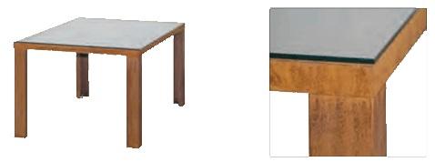 cortenstahl gartentisch meran wahlweise mit glasplatte angels garden dekoshop. Black Bedroom Furniture Sets. Home Design Ideas