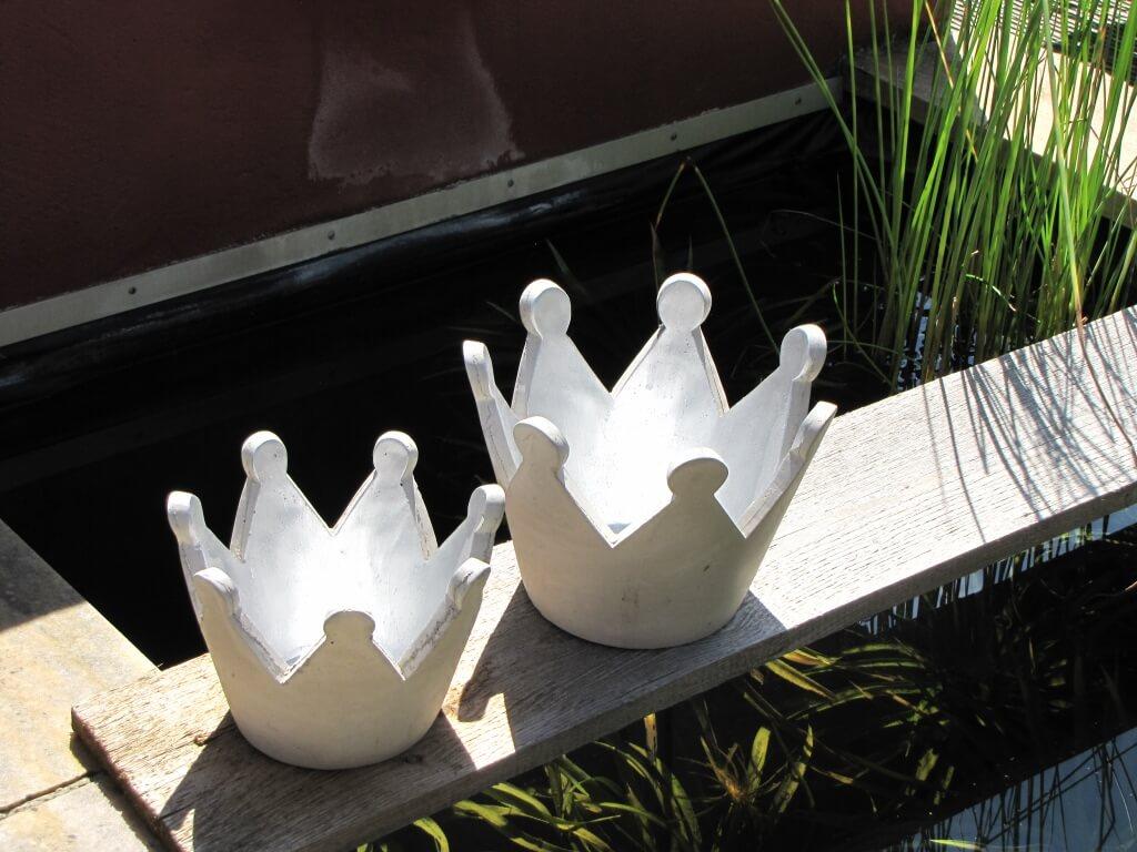 betonkrone grau silber gro angels garden dekoshop. Black Bedroom Furniture Sets. Home Design Ideas