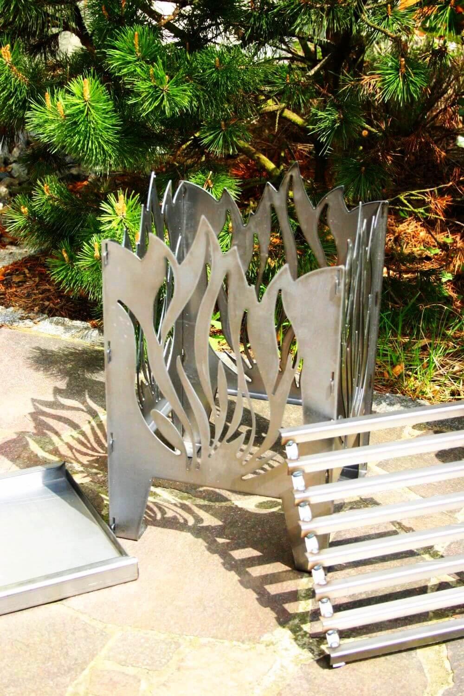 design feuerkorb flamme aus rohstahl angels garden dekoshop. Black Bedroom Furniture Sets. Home Design Ideas