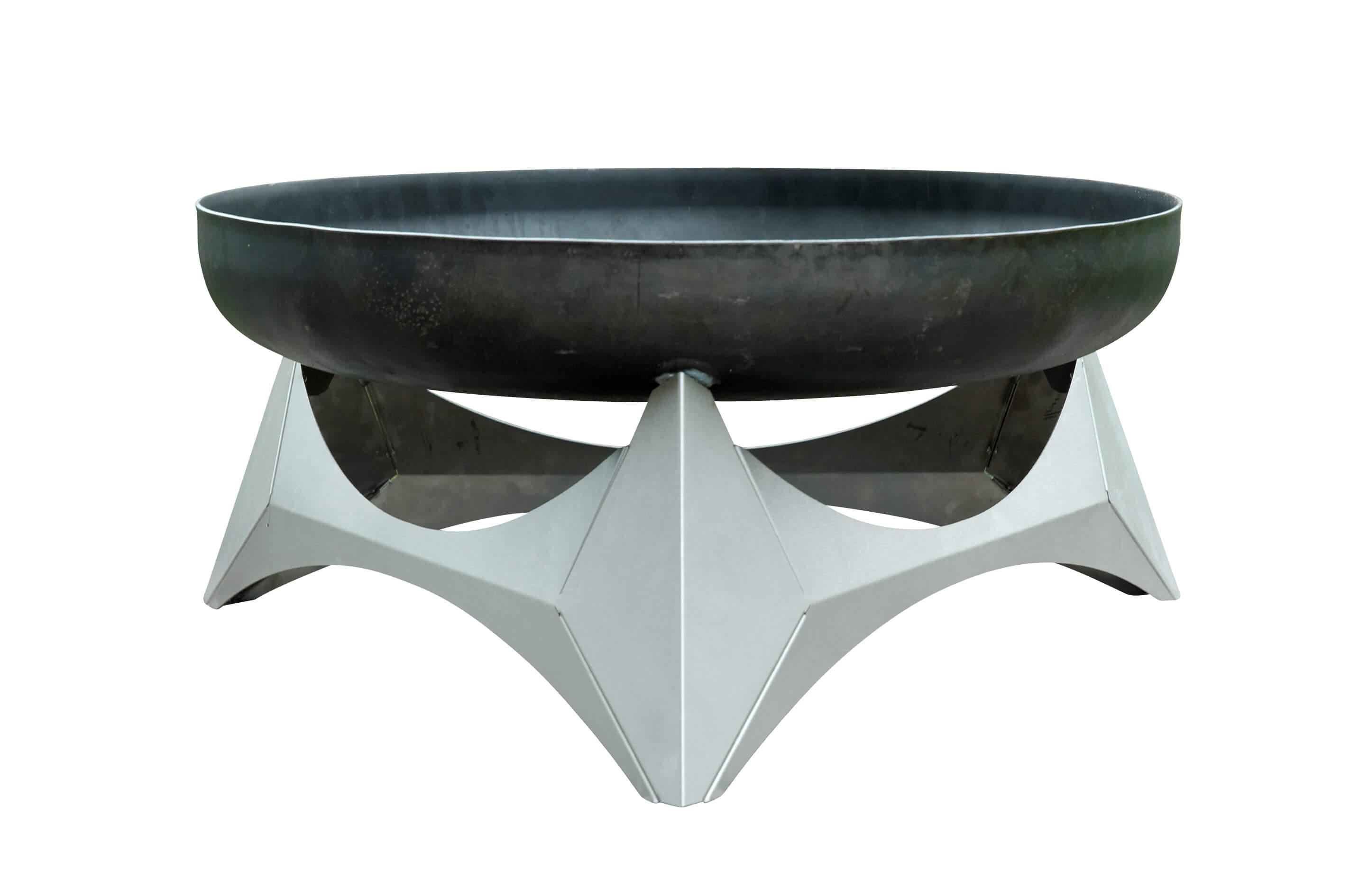 design feuerschale arka aus rohstahl mit edelstahl fu. Black Bedroom Furniture Sets. Home Design Ideas