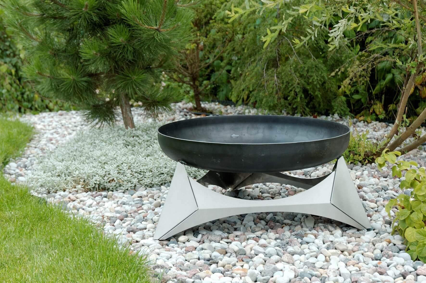 design feuerschale arka edelstahl metall feuerstelle brenntopf feuerschale ebay. Black Bedroom Furniture Sets. Home Design Ideas