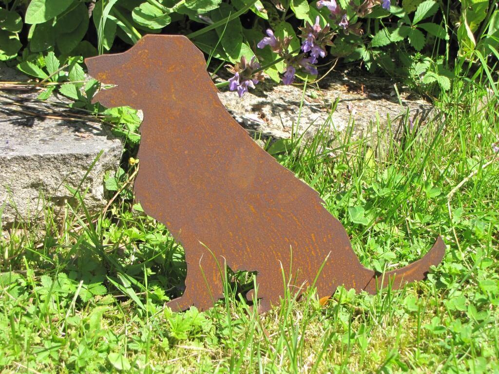 Edelrost bauernhof tier hund angels garden dekoshop for Edelrost tiere