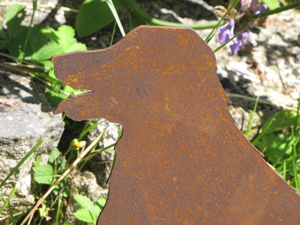 Edelrost bauernhof tier hund angels garden dekoshop for Tiere aus edelrost