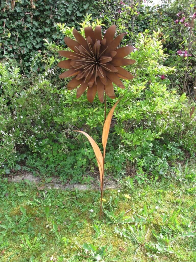 Edelrost blume gerda angels garden dekoshop for Rostige gartenstecker