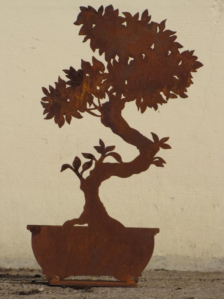 edelrost bonsai schmal 32 cm angels garden dekoshop. Black Bedroom Furniture Sets. Home Design Ideas