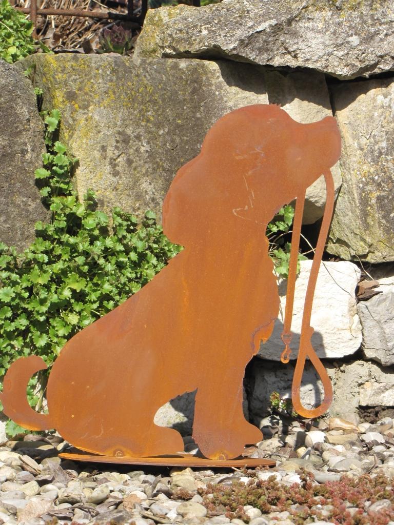 Edelrost gartenfigur hund rocky angels garden dekoshop for Edelrost tiere
